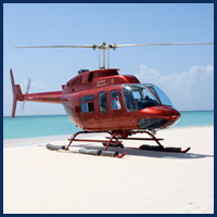 Helicopter on a Beach